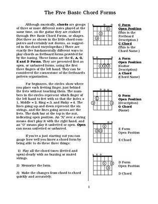 The Five Basic Chord Forms